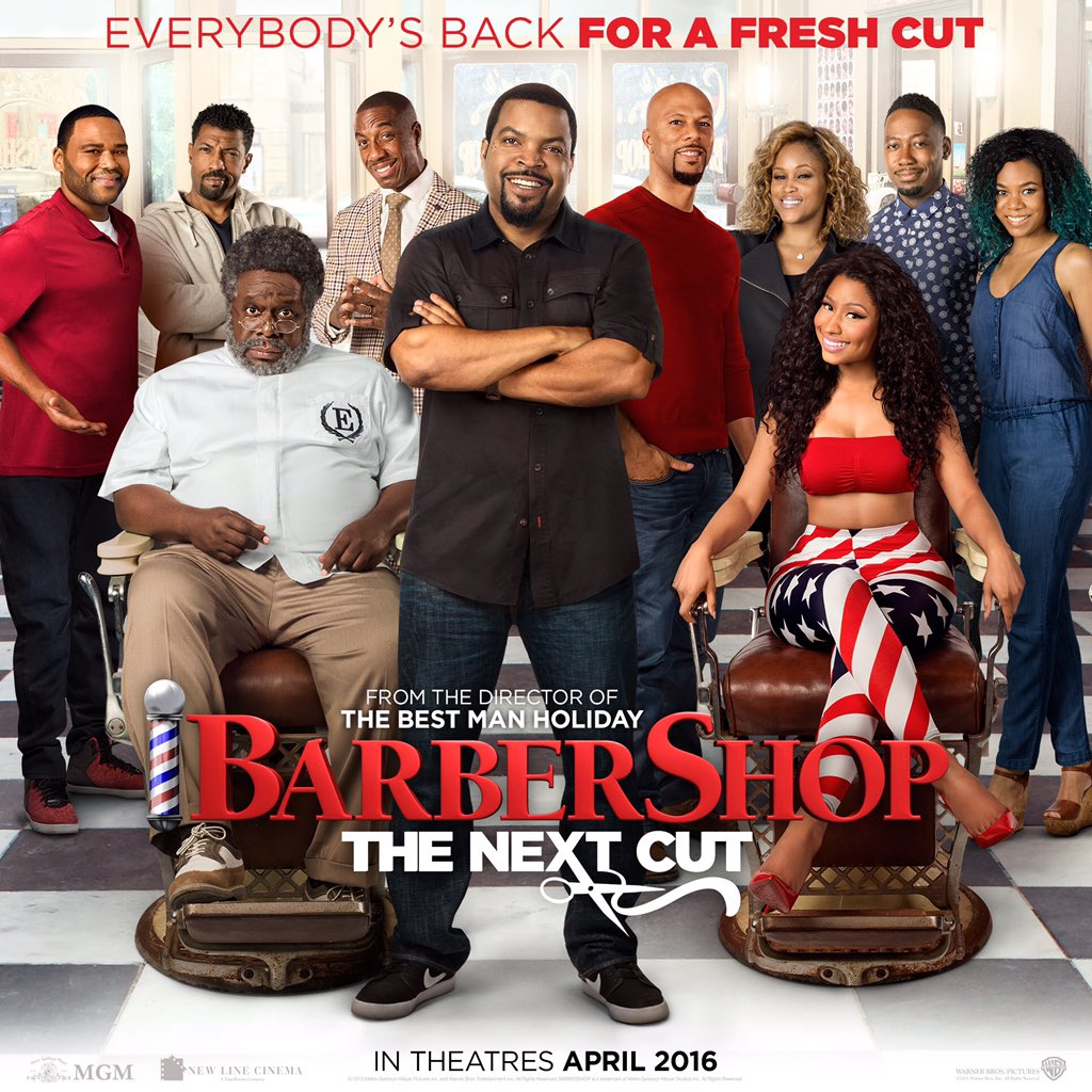 In theaters soon #Barbershop @barbershopmovie https://t.co/QqmZnlJNg0