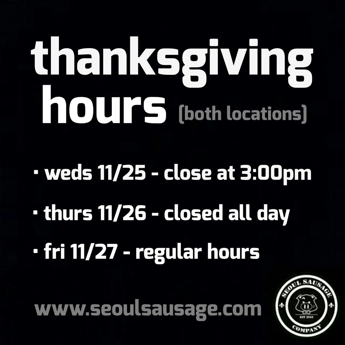 #Thanksgiving hours: https://t.co/XaZgiSKzIC
