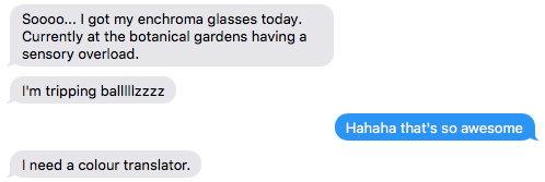 My brother is colour blind and it is very cool that he gets to experience this. https://t.co/bsnp8tGhAu