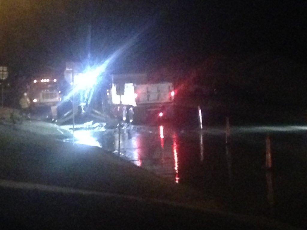 Lane reductions on 33rd W Ave @ I-244 as crews repair 12' water main break. #wakeupwith2