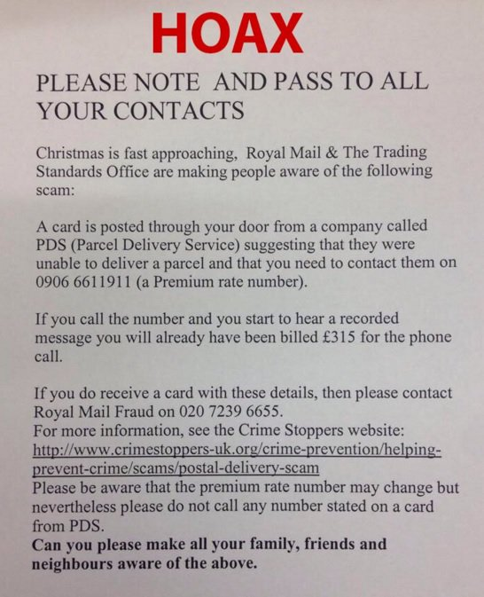 Every Christmas this hoax starts to spread @actionfrauduk #ChristmasCon https://t.co/82U3kBXhKB https://t.co/0Y7exPwSC3