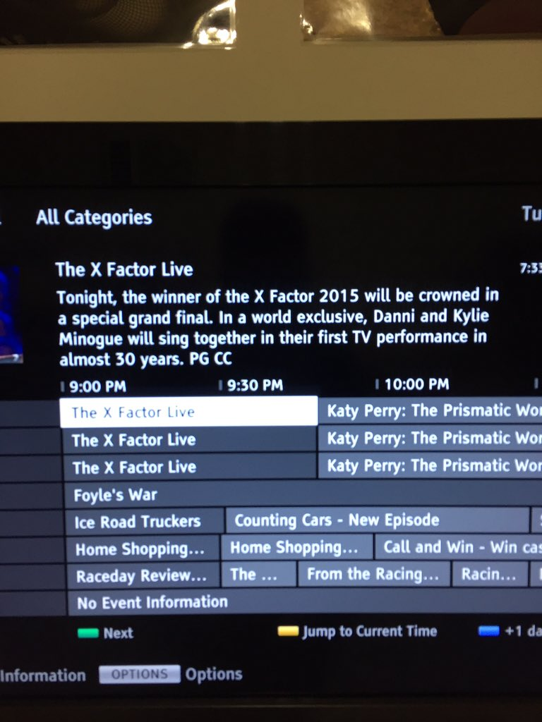 I love that my TV even promoted the Minogue performance as the main selling point #tvwow