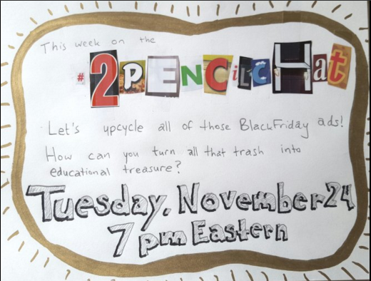 Tonight on the #2PencilChat: Repurposing Black Friday Ads in the classroom! Free materials! 7pm EST Join us! https://t.co/REQubFRSjk