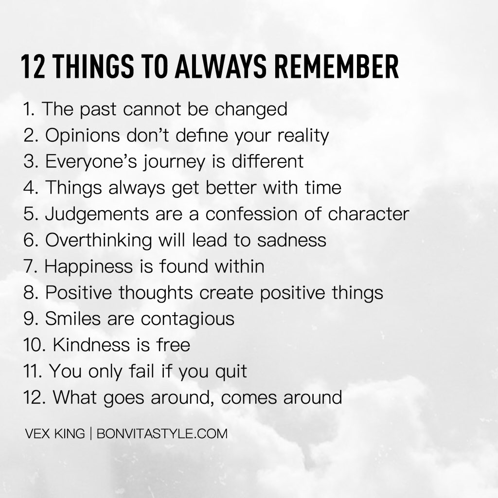 """List Of Quotes: Vex King On Twitter: """"Here's A List Of 12 Things To Always"""