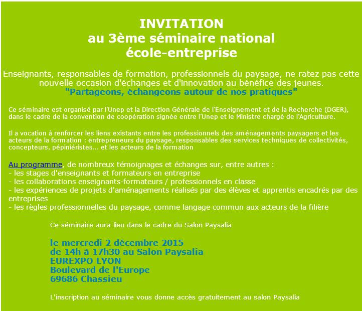 RT valhor_eqdv RT LesEntDuPaysage: INVITATION au 3ème séminaire national école-entreprise … https://t.co/kM5KWX9Yyg