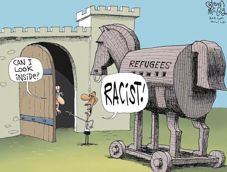 First it was UNCHECKED 'illegals'-- now @BarackObama wants unlimited 'refugees'… call your reps! #NoRefugees #tcot https://t.co/YXpZlrguvS