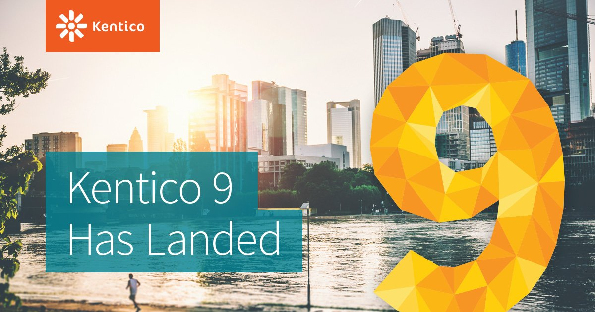 Ladies and Gentlemen, #Kentico9 has landed. Start getting closer to your customers! https://t.co/1R0oKsfCLW https://t.co/PPmltBfwnZ