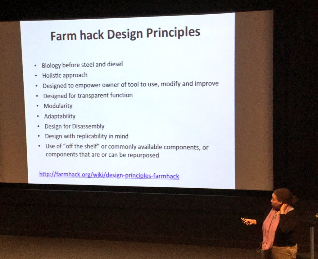 .@erinmaochu Farm hack design principals #CitizenScience https://t.co/aS7O6atVPE