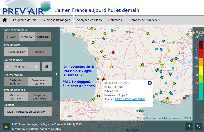 Carte Pollution Bordeaux.てとむ On Twitter Pollution Air Pm25 Prevair Bordeaux