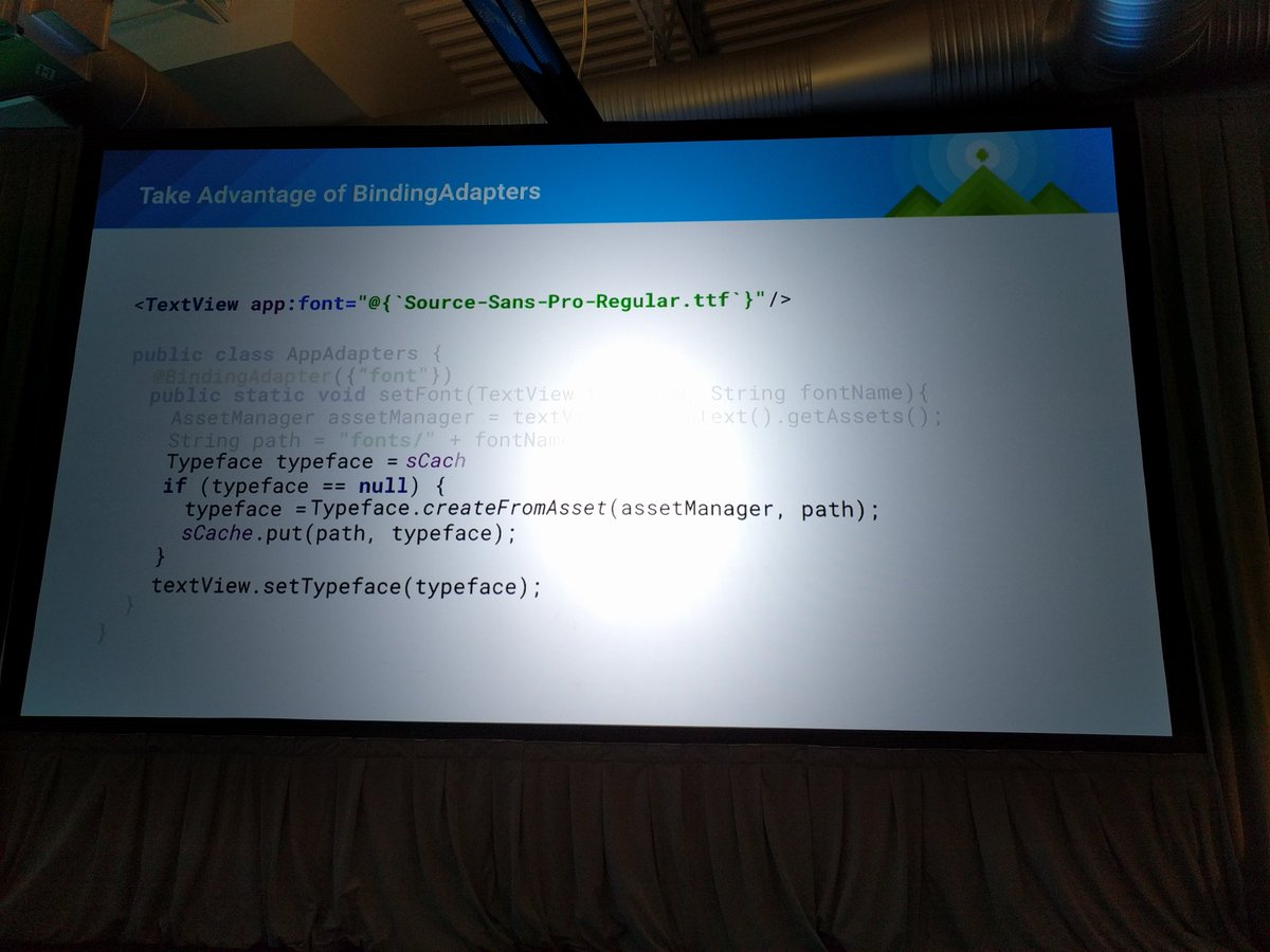 . @lisawrayz mentioned on stage at #AndroidDevSummit by @yigitboyar for Data Binding font awesomeness :) nice h/t https://t.co/9wNEM9d0JZ