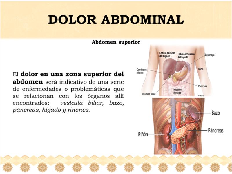 causas de dolor abdomen superior izquierdo