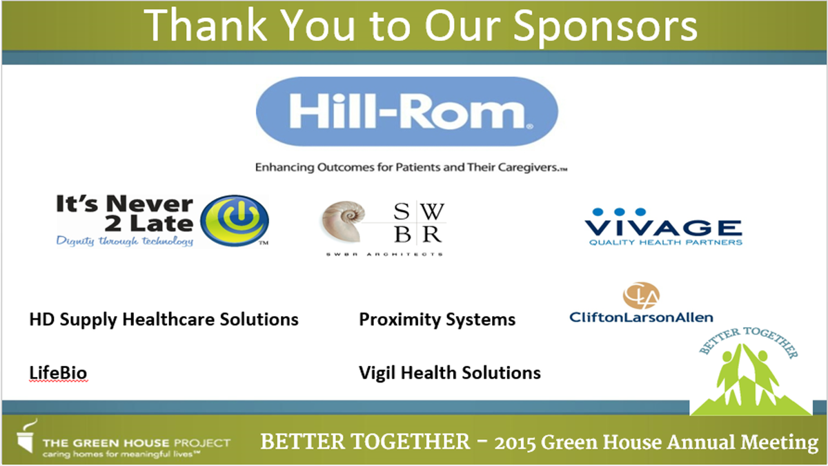 thnx to #GHP15 sponsors:Hill Rom, @iN2Lrocks Vivage @swbrarchitects @LifeBio @HDSupplyFM @CLAconnect Proximity Vigil https://t.co/7GJIxCBqwK