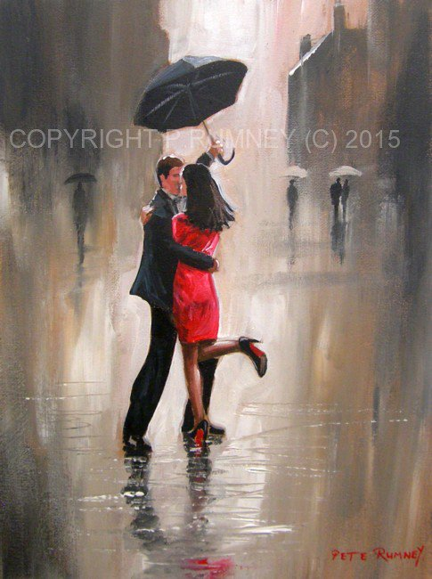 "PETE RUMNEY ART on Twitter: ""A dance in the rain anyone ..."