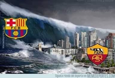 Barcellona Roma 6-0 Champions League 24 novembre 2015.