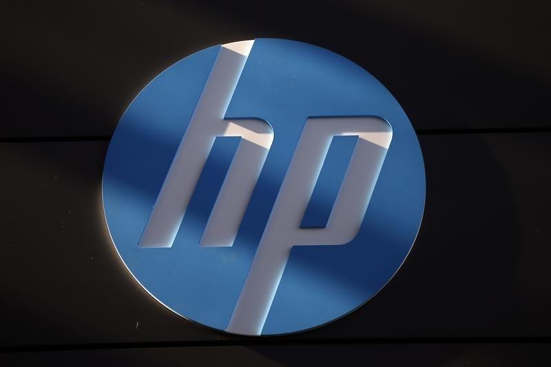 Hewlett-Packard revenue falls in last report before split