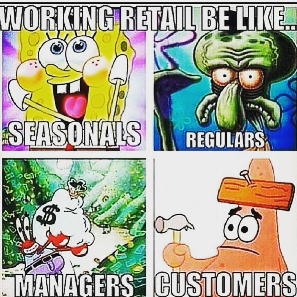 Spongebob Cult On Twitter Haahaa Squidward Mrcrabs And Patrick Hit The Nail Head With This One Retailproblems Retail