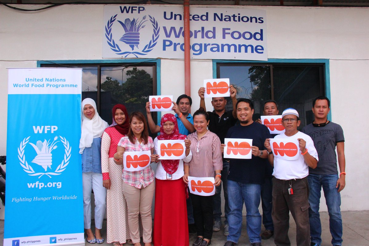 World Food Programme Philippines On Twitter Wfp Philippines Staff In Manila Cotabato Iligan Cebu Say No To Gender Based Violence 16days Orangetheworld Https T Co S7o1vgip97