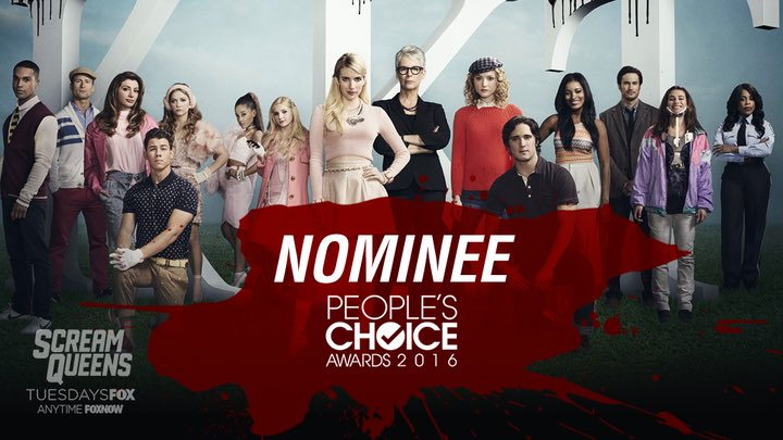 We're nominated for #PCAs! Vote #ScreamQueens for Favorite New TV Comedy: https://t.co/xk8n8SoVzK https://t.co/SRQgGIQykO