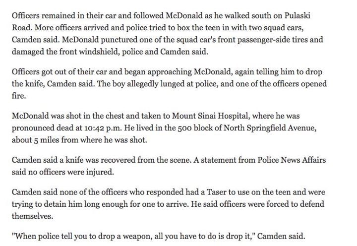 This is what #CPD said about the #LaquanMcDonald incident in 2014. Thank God for video https://t.co/2ZQpmHw6tF