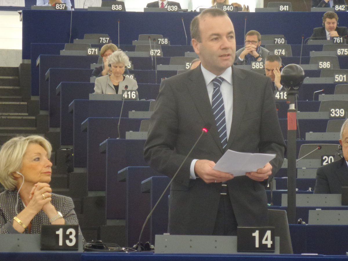 EPP chair @ManfredWeber  takes the floor in #EPonTerror debate in #EPlenary. https://t.co/rOItPwT9Yy
