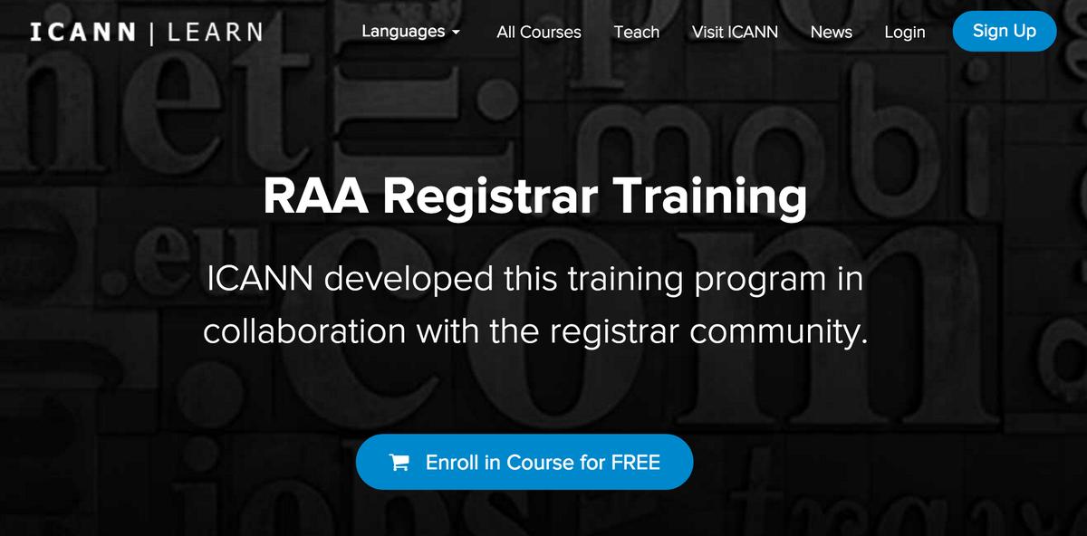 Icann On Twitter Training For Registrars On Registrar