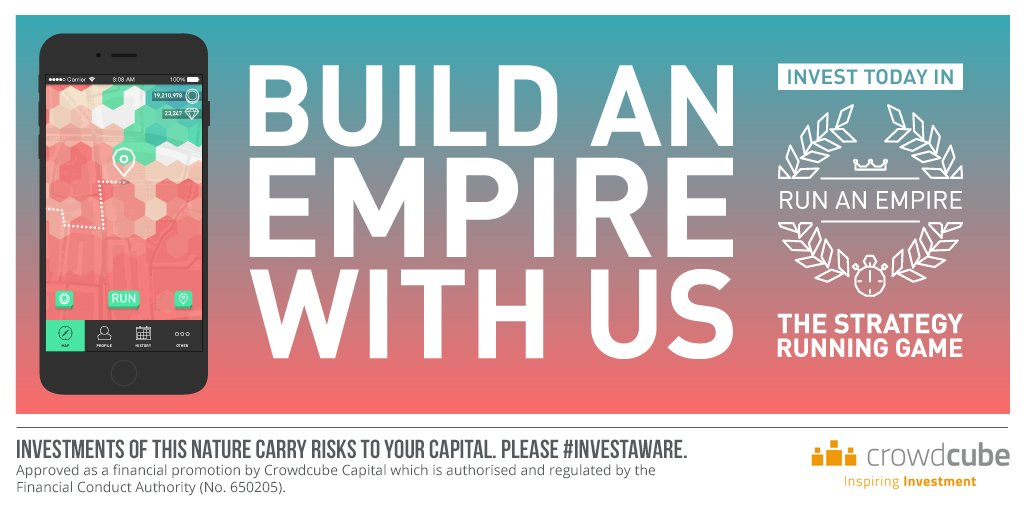 Build an empire with us! Invest in #RunAnEmpire now via @crowdcube: https://t.co/kvBX81zl1b Capital At Risk https://t.co/sxDD2PfBU4
