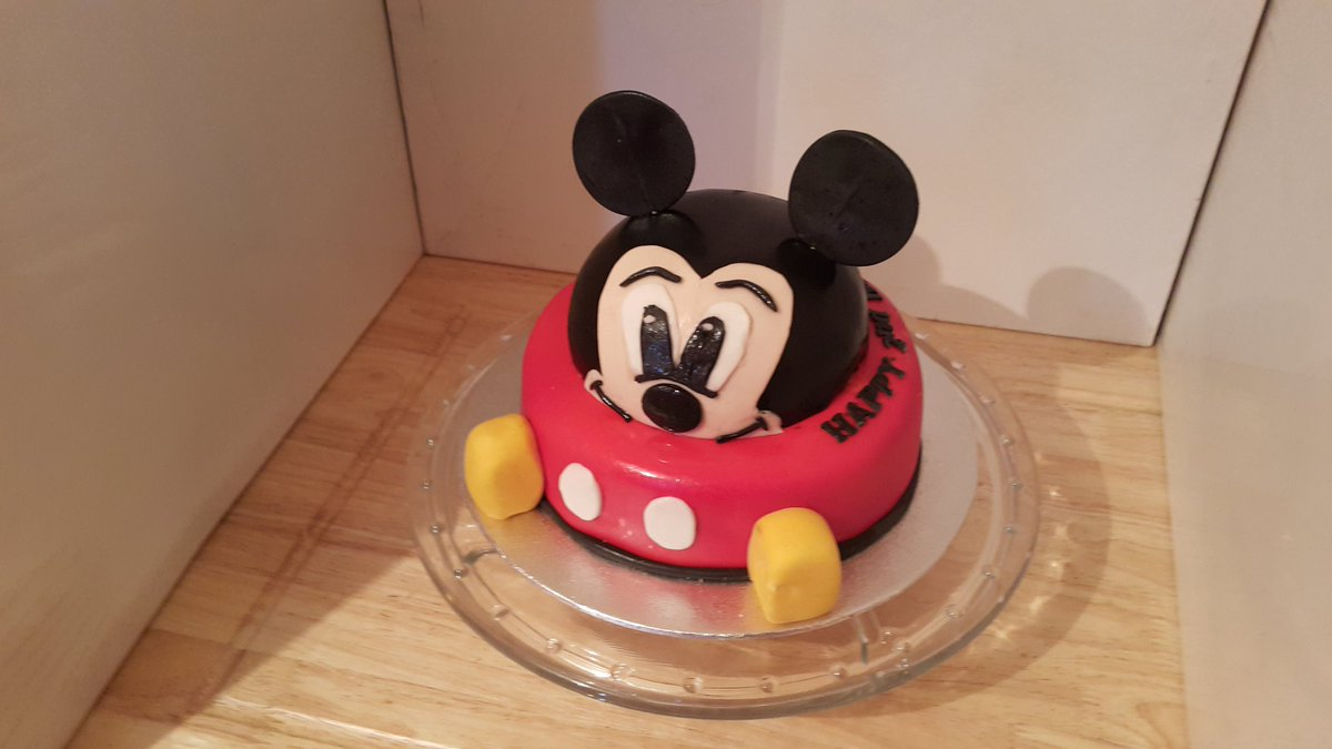 Remarkable Granted Cakes On Twitter Mickey Mouse Birthday Cake Funny Birthday Cards Online Inifodamsfinfo