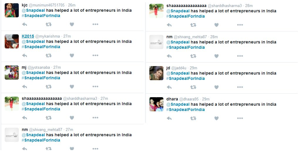 That's how you trend #snapdealforindia Good going guys. https://t.co/YXZPg2XBeG