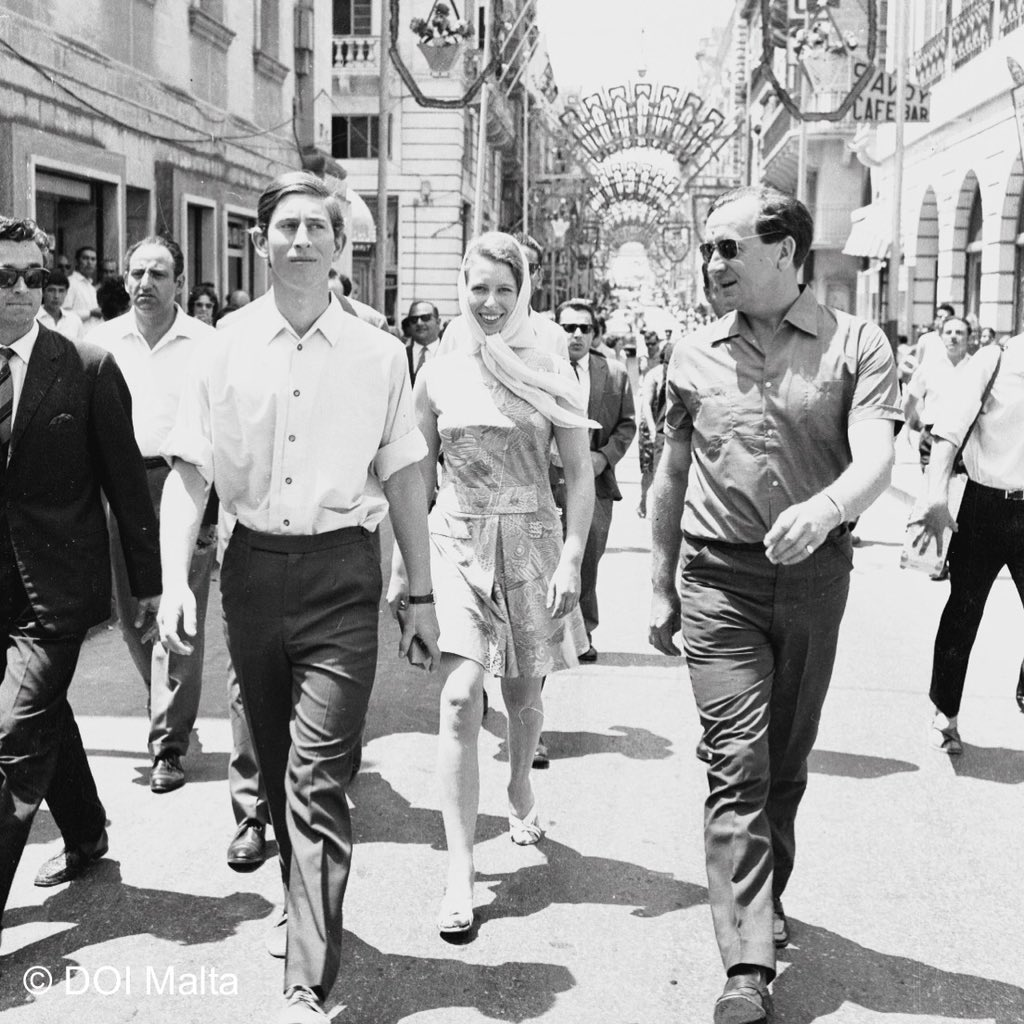 The Prince of Wales has visited Malta on many occasions. Here is HRH in Valletta during the 1960's. #RoyalVisitMalta https://t.co/Jj6b1I719x