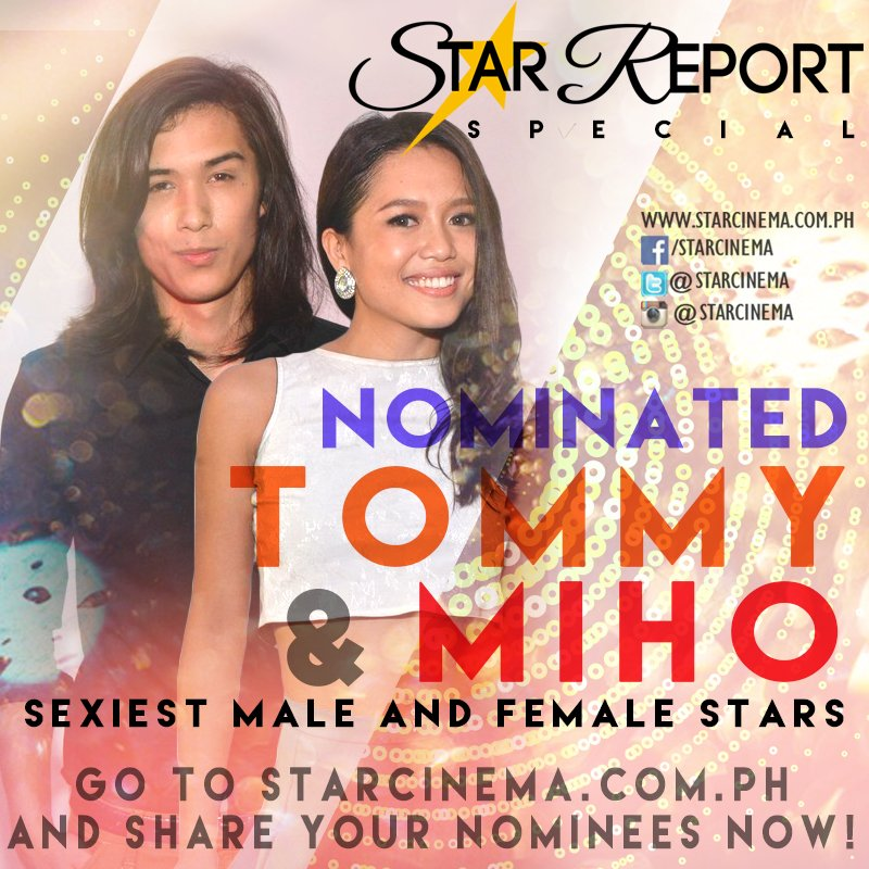 Tommy and Miho are nominated as Most Beautiful Male and Female Stars. Go https://t.co/RpPJuE6EIe share your nominees https://t.co/DnFUC9GWKx