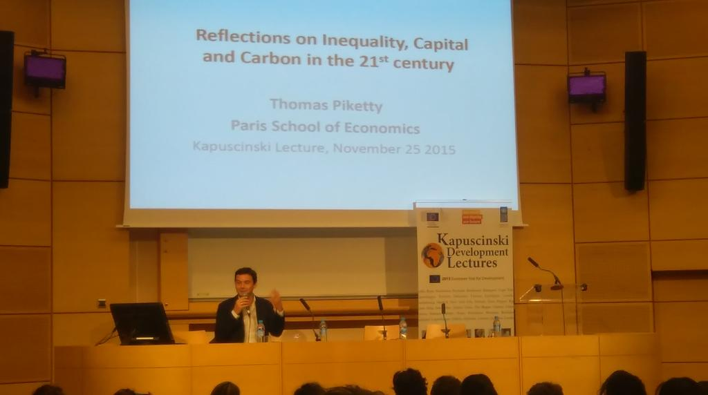 """Reflections on inequality, Capital & Carbon in the 21st century"" by Thomas #Piketty @sciencespo  @UNDP  #KAPTalks https://t.co/9BTDxydMdj"