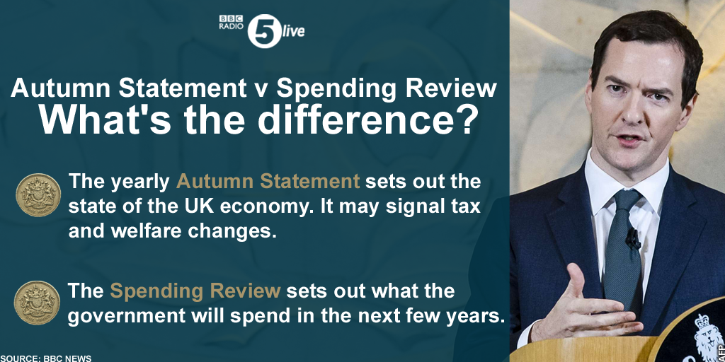 The #SpendingReview and #AutumnStatement: What's the difference?  Live coverage: https://t.co/UQMSd5TKbb https://t.co/cD5rB5UPta