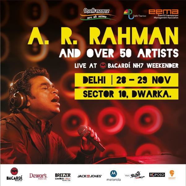 Delhi, get ready to meet A. R. Rahman at the happiest music festival on Nov 28! Tickets: https://t.co/vc3LwpvVGd. https://t.co/V5tcqhqsOv