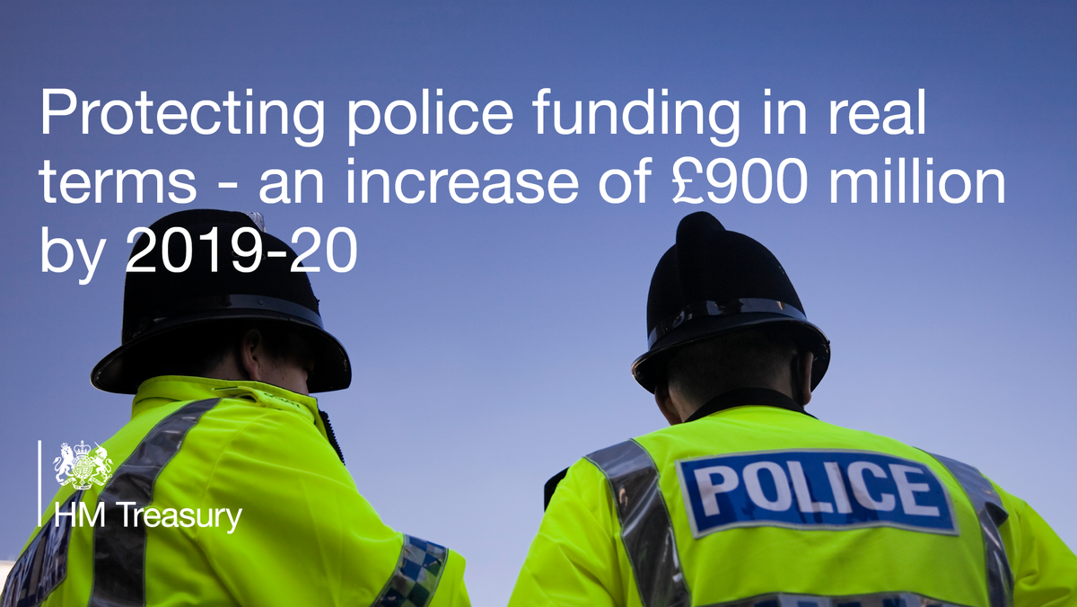 There will be no cuts in the #police budget at all #SpendingReview https://t.co/soi7bOM6nC