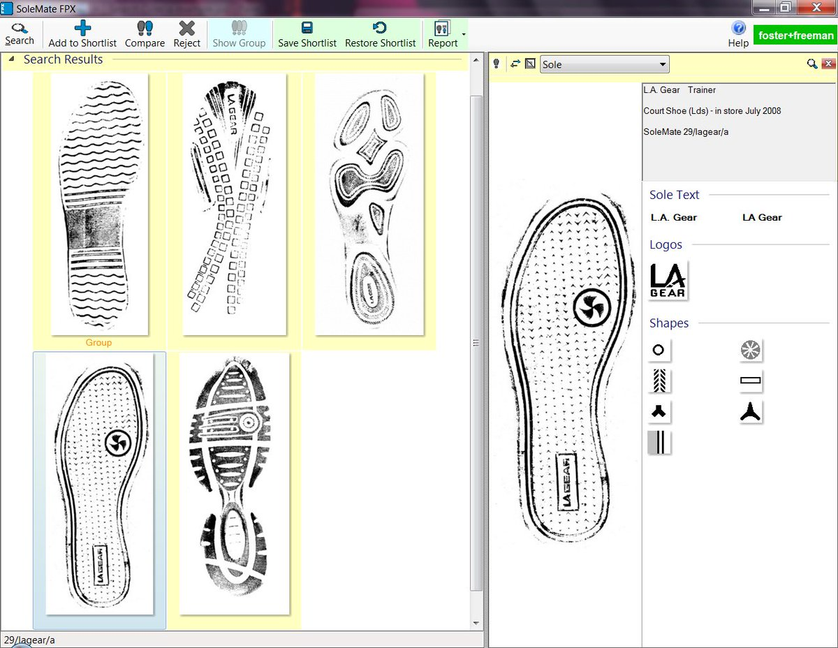 The SoleMate footwear database for the