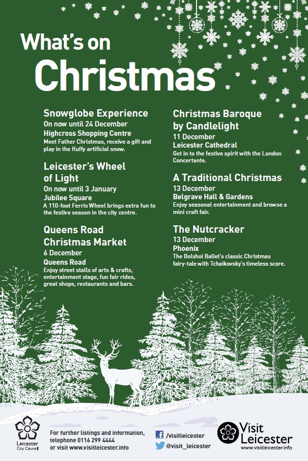 RT @Leicester_News: There's lots on in #Leicester as the countdown to #Christmas continues. See https://t.co/Oq3PA5u3D9 for more... https:/…