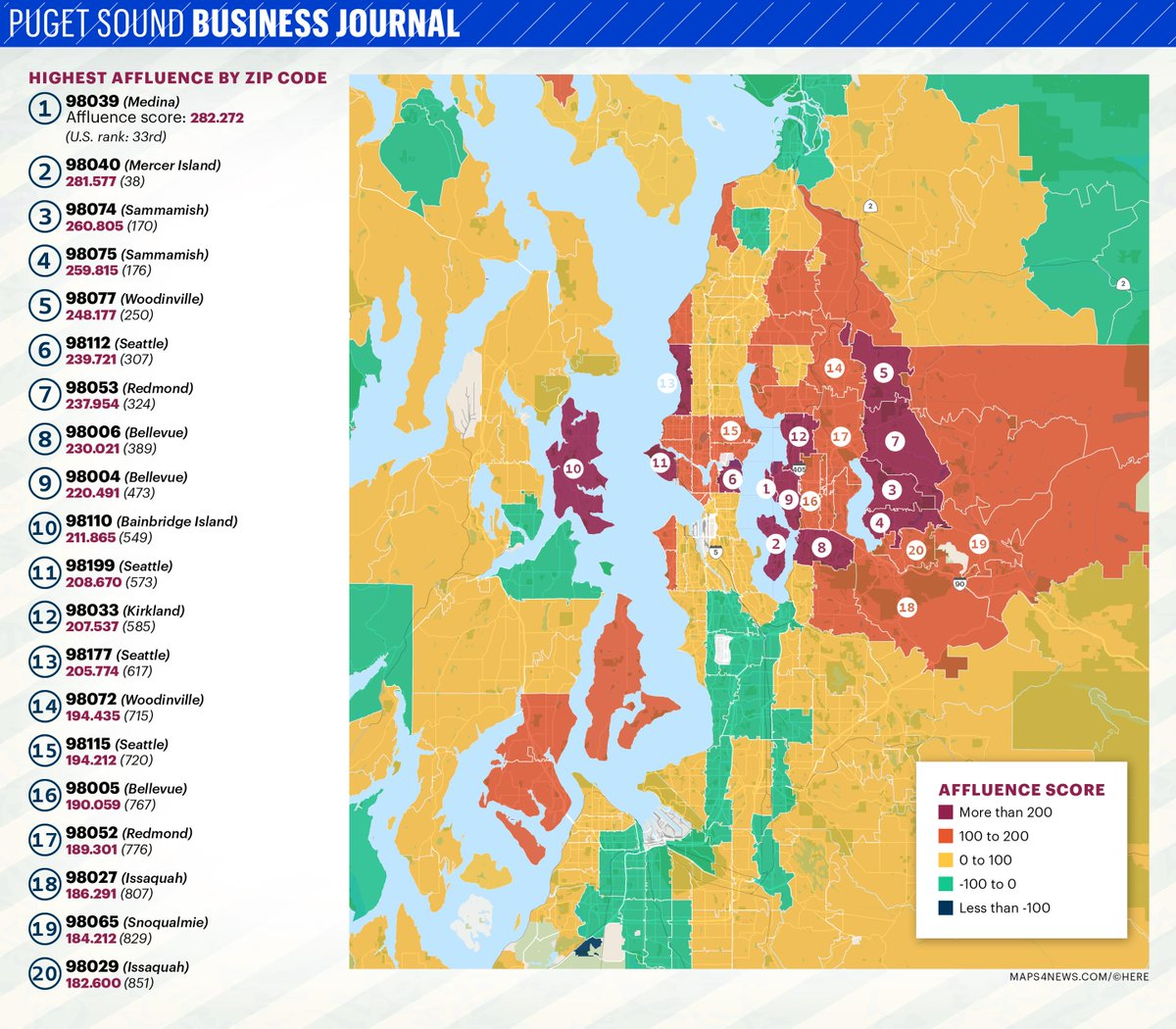 Here are Puget Sound area's wealthiest ZIP codes - on @PSBJ https://t.co/S1IGcyGRB2 https://t.co/hy2hBiq4fI