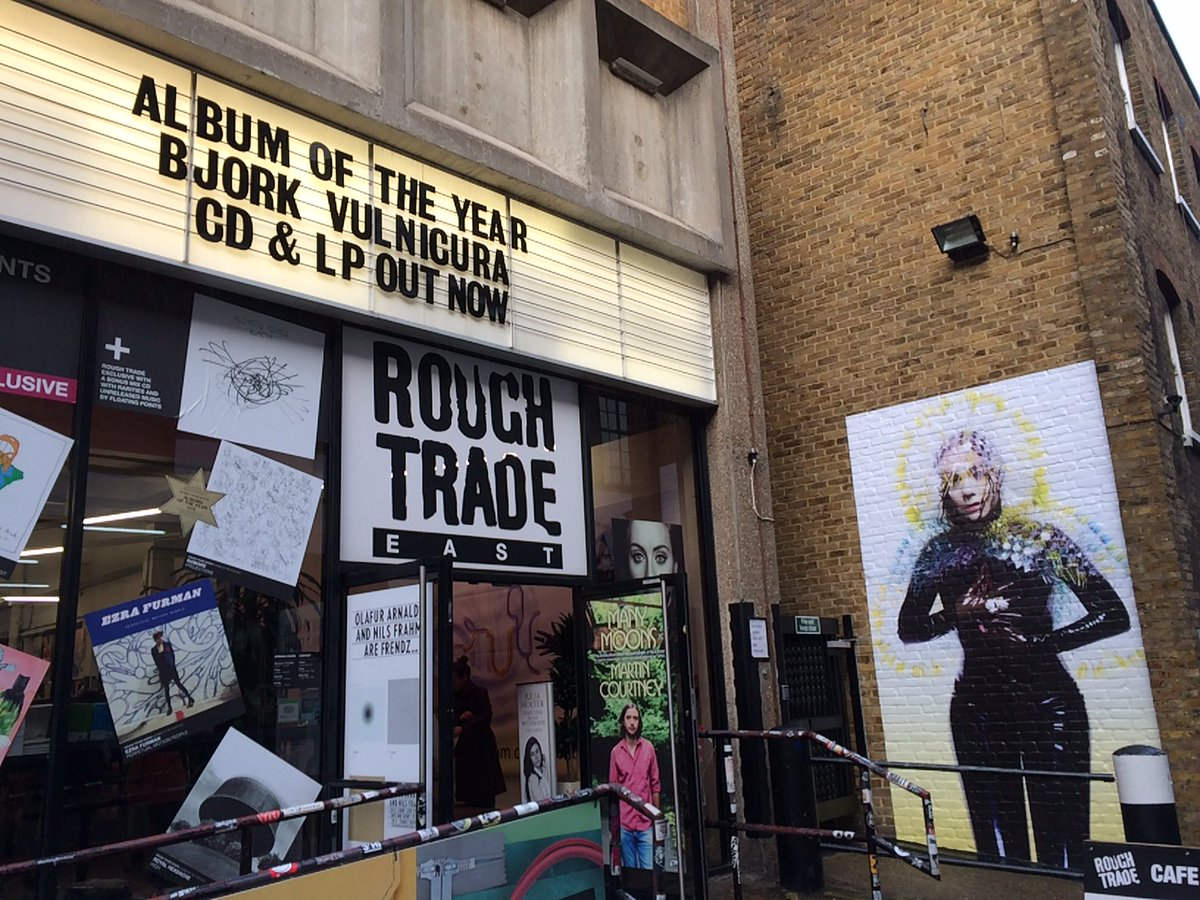 #Vulnicura is @RoughTrade's Album Of The Year! Stop by & check out the incredible @bjork takeover! #AOTY #Takeover https://t.co/kLdiL6IEsF