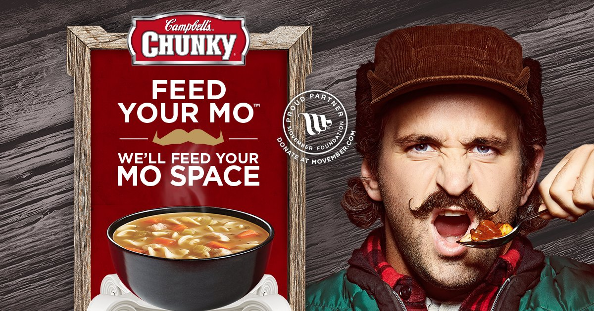 Campbell's Chunky wants to help beef up your Mo Space. Earn $5 with just a pic. Learn more: https://t.co/QXtH3lzWBA https://t.co/GgBn6UZeWA