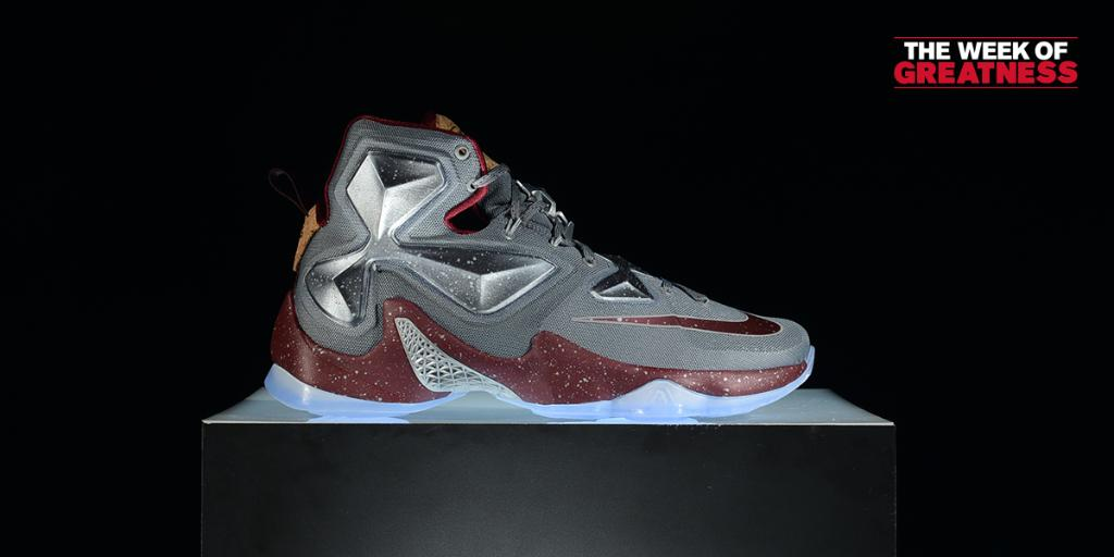 e206721f92415  WeekOfGreatness The  Opening Night   Nike LeBron 13 arrives in stores and  online Friday.