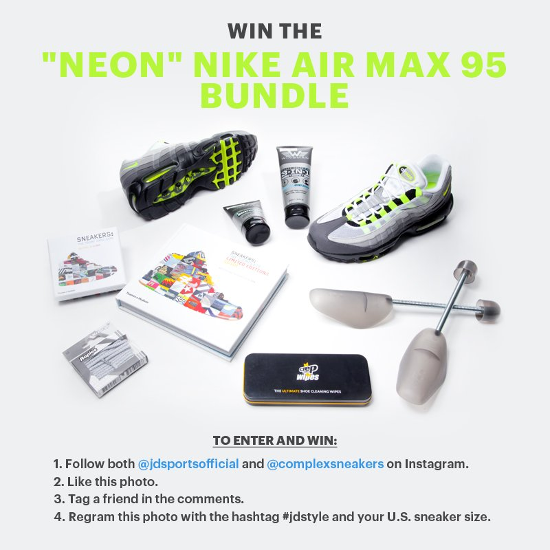 wholesale dealer 5d739 e1644 we re giving away a pair of neon nike air max 95s and more with  jdsportsfashion