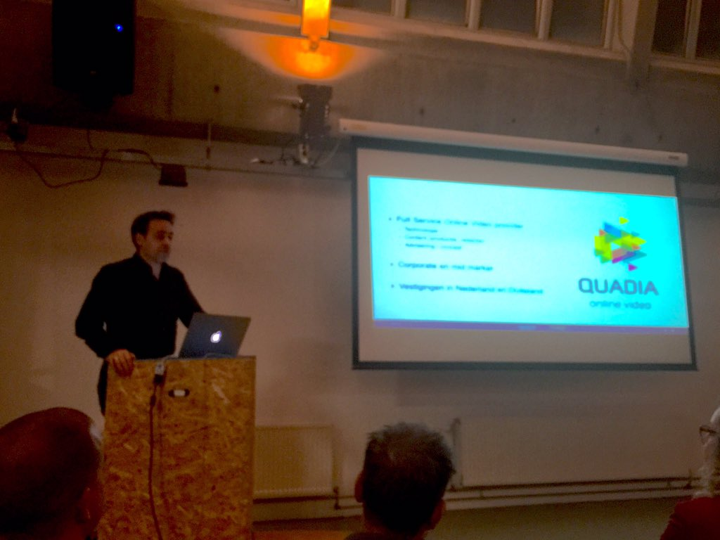 "Quadia's @nicoverspaget: ""Er worden elke dag 4x meer video play starts dan Google searches gedaan. #contentcafe https://t.co/G9tiFDbIWa"