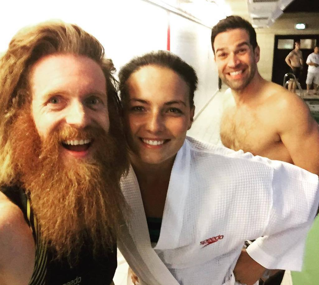 RT @Conway_Sean: Haha @gethincjones photobombing @kerianne_payne and I at a charity relay swim event. https://t.co/Qw2RVikP2E https://t.co/…