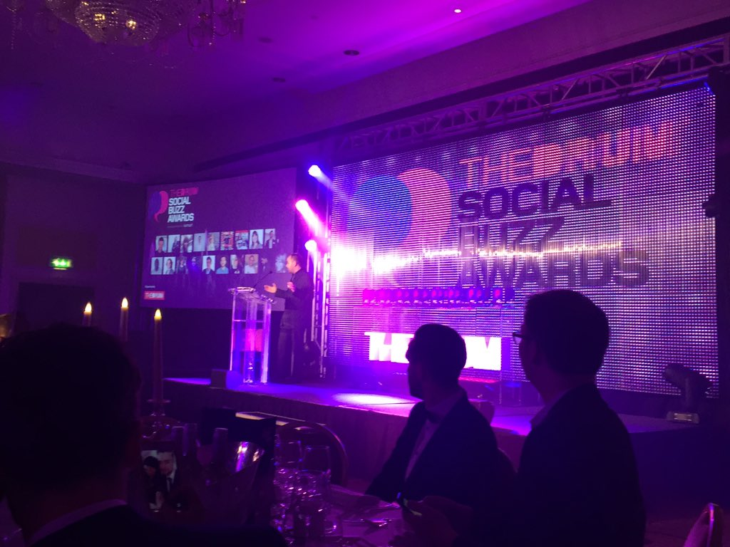 Front row seats this year @TheDrum #socialbuzzawards #decent https://t.co/MX6bkn68L0