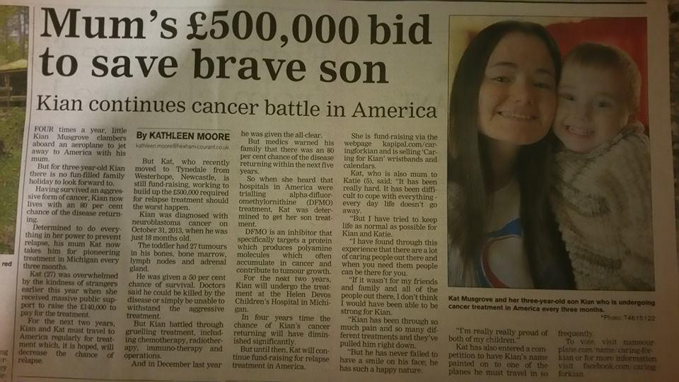 RT @1979IRISHGAL: @NatashaOfficial Please help Kian get vital cancer treatment abroad costing £550k https://t.co/VlFxmPg7Q0. RT https://t.c…
