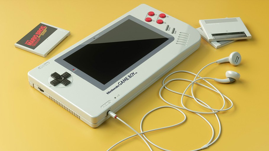 #Geek Awesome of the Day: Repurposed Handheld #Nintendo #Gameboy 1up by German engineer Florian Renner #SamaGames