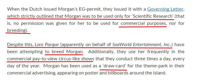 Basically EVERY rule has been broken for  #Morgan #Corruption by #Harderwijk #SeaWorld and #LoroParque #OpSeaWorld<br>http://pic.twitter.com/JFntZCsvjE