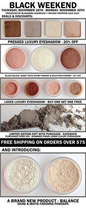 RT @BbirdCosmetics: Just one more hour before @BbirdCosmetics opens up shop for #BlackFriday sale! #veganthanksgiving