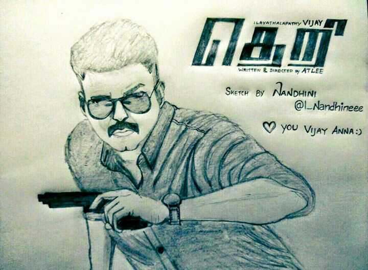 """... Twitter: """"Awesome Pencil drawing for #Theri https://t.co/quv5vGu1RL"""