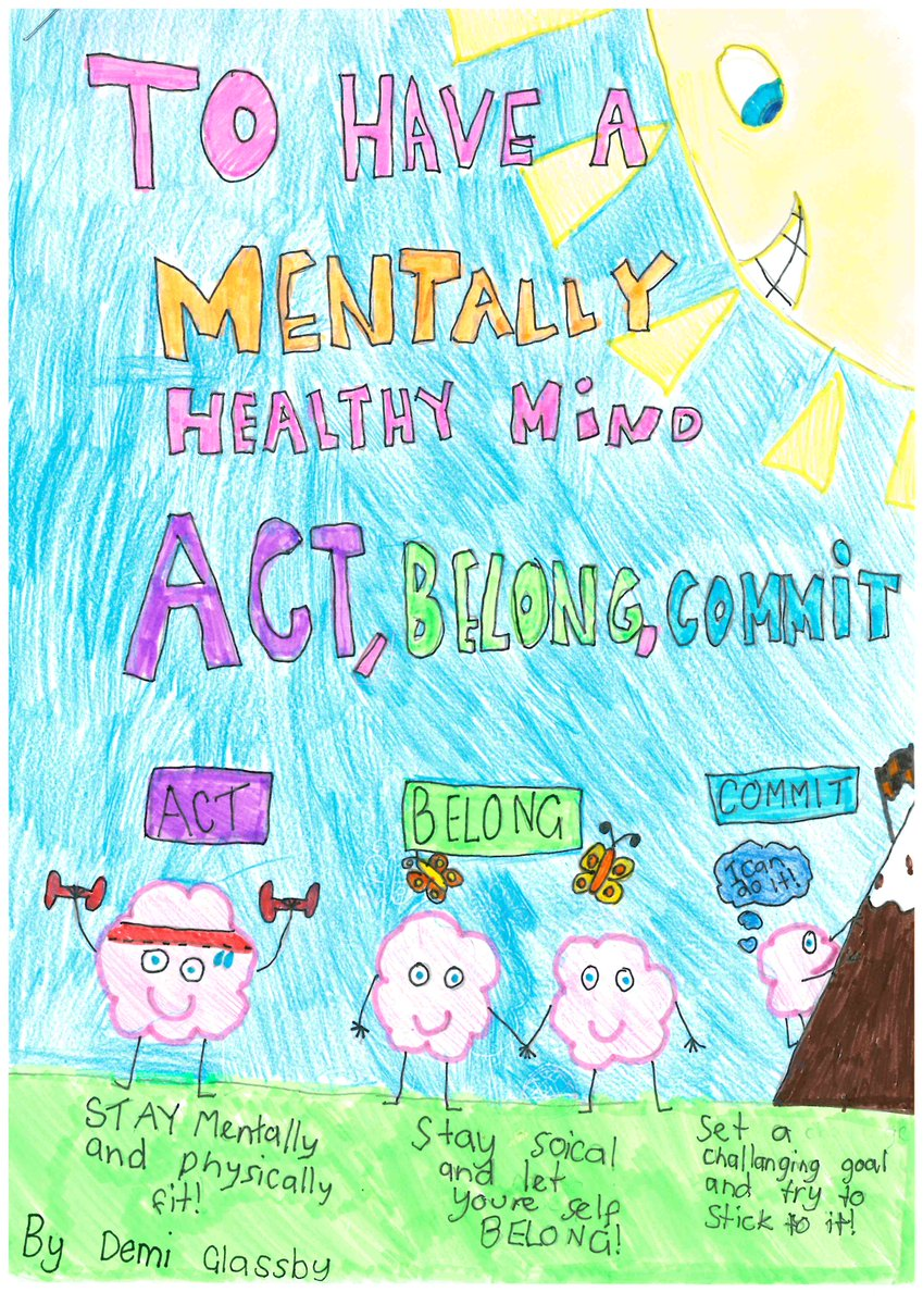 WAAMH On Twitter Well Done Demi 9 From HelenaCollege Who Won Our MHW2015 School Poster Competition ActBelongCommit Mentalhealth